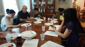 Dr Jim Reynolds, sharing with the students during one of our last brunches for the semester