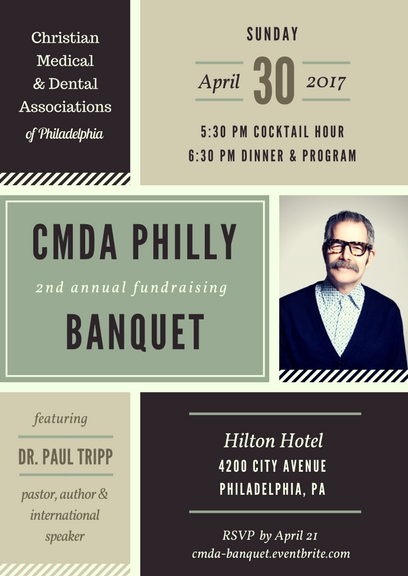 Details for our 2017 CMDA Philadelphia Banquet